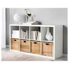 I love Ikea! Here are four of the best toy storage products from Ikea. Kallax Shelving, Ikea Shelves, Cube Shelves, Office Shelving, Wood Hinges, Bedroom Decor, Decor Room, Home Decor, Ikea Decor