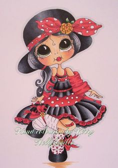 OOAK HAND COLOURED SHERRI BALDY CARD TOPPER AS CUTER than SATuRATED CANARY By Kerry | eBay