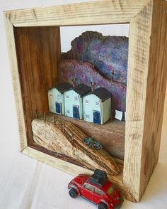 This wonderful 3D art is on sale in my Etsy shop, a depiction of our gorgeous Yorkshire hills in summer with the heathers in full bloom.  The deep box frame is made from reclaimed pallets and everything else out of driftwood.  #tildysroom #cottages #cottagestyle #driftwood #driftwoodart #driftwoodhouse #coastal #coastalart #cottage #cottagestyle #yorkshiredales #yorkshirecoast #recycledart #upcycledart #rusticdecor #rusticart #ooak #ooakart #originalwork