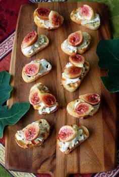Fig and Goat Cheese Bruschetta and Fig Brie and Meyer Lemon cookies.