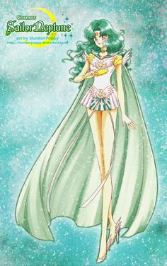 Bishouji Senshi Sailor Moon-Cosmos Sailor Neptune by SlumberPoppy Sailor Moon Stars, Sailor Moon Manga, Sailor Neptune, Sailor Saturn, Sailor Moon Crystal, Sailor Venus, Sailor Mars, Moon Sketches, Sailor Moon Wallpaper