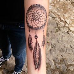 Dream Catcher Tattoo On Arm Prepossessing 38 Small Dreamcatcher Tattoo Placement Ideas  Tattoo  Pinterest Design Decoration