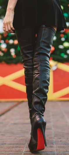 Women's Fashion High Heels :    Christian Louboutin Gazolina Boots  - #HighHeels https://youfashion.net/shoes/high-heels/best-womens-high-heels-christian-louboutin-gazolina-boots/