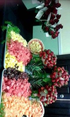 Decoracion de fruta, para evento