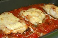 Receta de Bacalao al horno Preparacion 4 Canapes, Empanadas, Fish Recipes, Cod, Cauliflower, Seafood, French Toast, Food And Drink, Menu