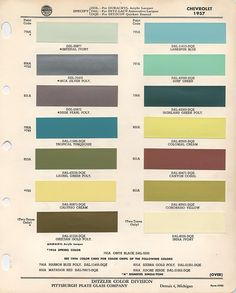 Official color code paint thread (pics needed) - TriFive.com, 1955 Chevy 1956 chevy 1957 Chevy Forum , Talk about your 55 chevy 56 chevy 57 chevy - Belair , 210, 150 sedans , Nomads and Trucks, Research, Free Tech Advice