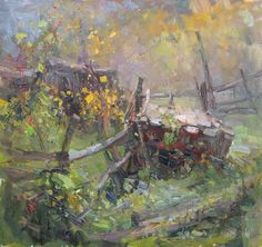 """Makarov Vitaly """"Abandoned Barns"""" - oil, canvas http://www.russianfineart.co/catalog/prod.php?productid=19046"""