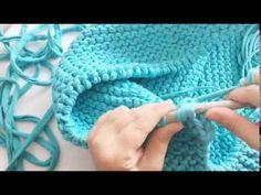 Örgü puf - Ottoman pouf- Knitting pouf - YouTube