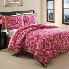 Twin, extra long, 8 piece comforter set.