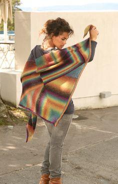 Strikket sjal i mange farver fra Garnstudio