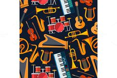 Musical instruments pattern @creativework247