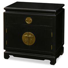 """Elmwood Black Ming Cabinet  24""""w x 16""""d x 24""""h"""