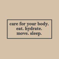 Self care.