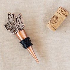 Our fall leaf wine bottle stoppers are the perfect way to dress up your favorite bottle of wine at your autumn themed wedding or dinner party. Made in a copper hue, each bottle stopper comes packaged in a gift box with matching bow and thank you tag. Gold Wedding Favors, Wedding Shower Favors, Fall Wedding, Orange Wedding, October Wedding, Wedding Table, Party Favors, Wedding Gifts, Dream Wedding