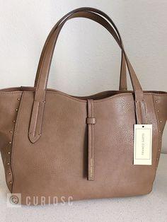cb4581bab0 New Franco Sarto Paula Shoulder Bag Tote Shopper Medium Color Taupe