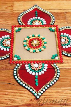 Rhinestone art Diwali decor Bollywood inspired Acrylic by Nirman
