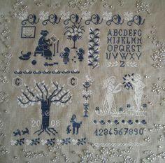 Old sampler by giuseppina ceraso per cerpica http://crocettando.wordpress.com/2008/05/28/ultimo-schema-old-sampler/