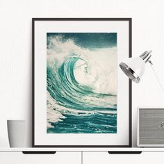 Ocean Print Sea Wall Art waves printable Art Teal Nautical decor minimal decor turquoise Navy Style Instant Download Photo File for Print by S4StarSbySiSSy on Etsy https://www.etsy.com/ca/listing/453779508/ocean-print-sea-wall-art-waves-printable