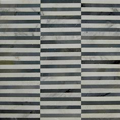 White/Black/Gray Stick Mosaic Marble Tile