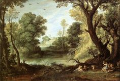 Landscape with Nymphs and Satyrs - Paul Bril - WikiPaintings.org