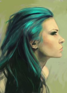Saw this picture & immediately thought of Karou from Daughter of Smoke & Bone by Laini Taylor