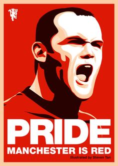 Check out this great portrait of Wayne Rooney by Reds supporter Steven Tan. Manchester United Fans, Manchester Derby, Wayne Rooney, Soccer Art, Soccer Poster, Best Football Team, Best Club, Man United, Soccer Players