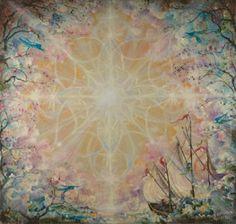 Ship of Dreams by Cynthia Rose Young Mandala Painting, Visionary Art, Spirituality, Ship, Dreams, Rose, Drawings, Awesome, Artist