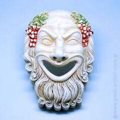 Dionyssus ceramic theatrical mask (30 cm)