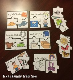 To use this resource, cut out and laminate the puzzle pieces. Place them in a center. Students will sort the words and pictures according to compound words to create the compound word puzzle.If you enjoy this product, please visit our store for more Puzzle Sorts! Included in this package: -24 compound word puzzles in a 4 piece puzzle -24 of the same compound words but in a 3 piece puzzle