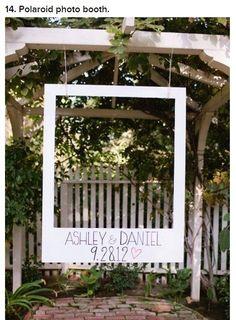 wedding ideas polaroid | Polaroid photo booth?