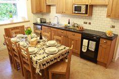 The kitchen/diner at Stalker's Cottage on the Glencarron Estate near Inverness. http://www.glencarronestate.co.uk