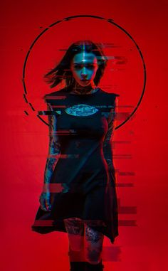 Neon Witch by Aku 悪 Model: Anna Batman on ArtStation Glitch Art, Glitch Kunst, Cyberpunk Kunst, Cyberpunk Girl, Cyberpunk 2020, Cyberpunk Fashion, Photo Oeil, Character Inspiration, Character Art