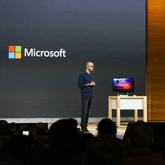 Microsoft event stage