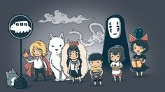 Miyazaki chibis! soo freaking cute