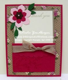 FLOWERY ENVELOPE CARD.