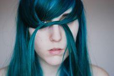 blue hair girl.