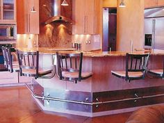 Snack Bar Chairs Contessa metal and maple bar stools with stainless steel finish suspended