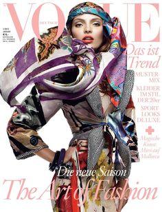 Vogue Germany January 2012 Carola Remer by Greg Kadel.
