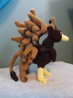 Crochet Amigurumi Griffin by SalemsShop on Etsy, $30.00