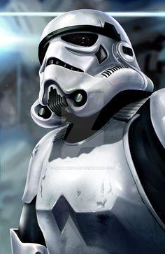 Stormtrooper by Yasmine-Arts on DeviantArt Star Wars Pictures, Star Wars Images, Sith, Stormtrooper Art, Star Wars Drawings, The Trooper, Star Wars Tattoo, Disney Star Wars, Cultura Pop