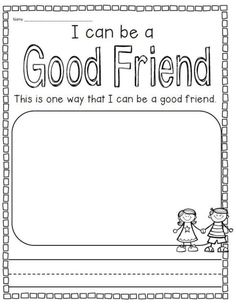 Making Friends Worksheets Kindergarten What Does It Take to Be A Good Friend A Be A Good Friend Kindergarten Class Rules, Free Kindergarten Worksheets, Writing Worksheets, Preschool Friendship, Friendship Activities, Friendship Theme, Social Skills Activities, Writing Activities, Counseling Activities
