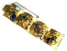 Huge Dragon Motif Bracelet from Anna's Vintage Jewelry on Ruby Lane