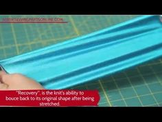 Beginner's Guide to Sewing Knits (Episode 10) - SewingPartsOnline-YouTube Video-8:45min  Sure, sewing jersey and spandex is a little different than sewing 100% cotton, but with a few tips and tricks you'll be a pro.  After you watch our video, go out and try making a simple tank top or raglan.