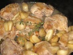 chicken with 40 cloves of garlic in 30 minutes