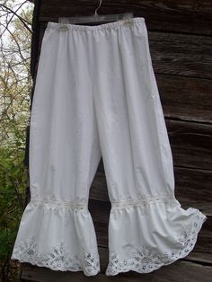 Bloomers   Women    White Cotton  Bloomers  by MountainWomanFlavor