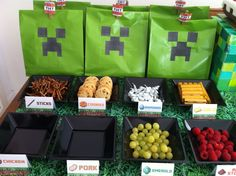 Minecraft party food.