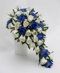 March Wedding Bouquet Ideas | blue flowers for wedding bouquet on Blue and Ivory Bridal Bouquet | C ...