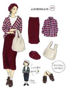 トレンドカラーを取り入れて秋モードにチェンジ Today's Pick Up ユニクロ Cozy Fashion, Fashion Mode, Japan Fashion, Minimal Fashion, Fashion Art, Autumn Fashion, Fashion Outfits, India Fashion, Dress Sketches