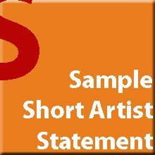 © GYST Ink. Sample Short Artist Statements
