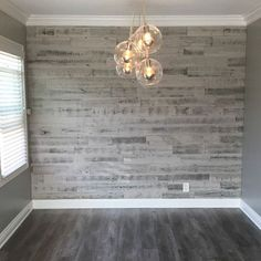 I love my new dining room!! #stikwood #stikwoodaccentwall #reclaimedwoodgrey